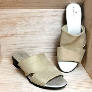 Bandolino Womens Golden Flats Sandals